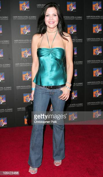 Christa Campbell during Hard Rock Hotel and Casino 10th Anniversary Weekend - Bon Jovi in Concert - Red Carpet Arrivals at The Hard Rock Hotel and...