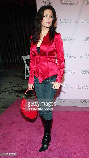 Christa Campbell during T-Mobile Limited Edition Sidekick II Launch - Arrivals at T-Mobile Sidekick II City in Los Angeles, California, United States.