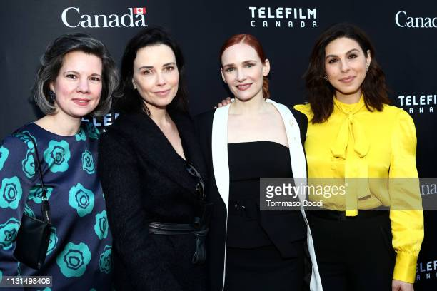 Christa Dickenson Maxim Roy Marianne Farley and Cristina Rosato attend the Canada's Oscar Salute Celebration Hosted By Consul General Of Canada Mr...