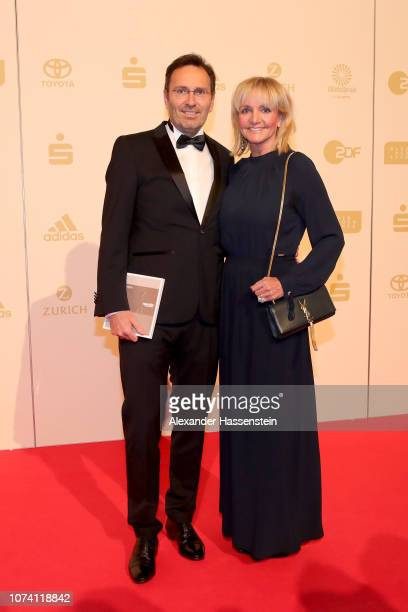 Christa Kinshofer and Erich Rembeck arrive for the 'Sportler des Jahres 2018' Gala at Kurhaus Baden-Baden on December 16, 2018 in Baden-Baden,...