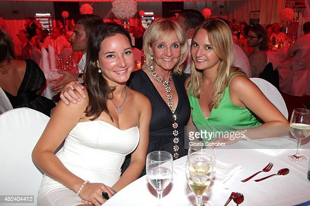 Christa Kinshofer and her daughter Alexandra and her daughter Stefanie attend the Kaiser Cup 2014 Gala on July 19 2014 in Bad Griesbach near Passau...