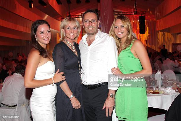 Christa Kinshofer and her daughter Stefanie her husband Dr Erich Rembeck and daughter Alexandra attend the Kaiser Cup 2014 Gala on July 19 2014 in...