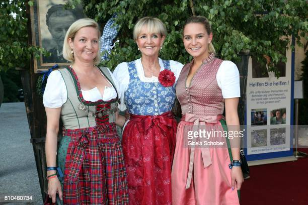 Christa Kinshofer and her daughter Stephanie and her sister Traudi Waldtraudt during a bavarian evening ahead of the Kaiser Cup 2017 at the Quellness...