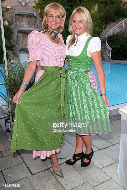 Christa Kinshofer and her daughter Stephanie during a Bavarian Evening ahead of the Kaiser Cup 2015 on July 10 2015 in Bad Griesbach near Passau...