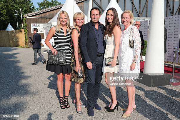 Christa Kinshofer and her daughter Stephanie Kinshofer Dr Erich Rembeck daughter Luisa Rembeck Traudi Kinshofer sister of Christa Kinshofer during...