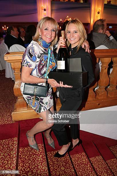 Christa Kinshofer and her daughter Stephanie Kinshofer with award during the Kaiser Cup 2016 gala on July 16 2016 in Bad Griesbach near Passau Germany
