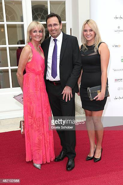 Christa Kinshofer and her husband Dr Erich Rembeck and her daughter Stephanie Kinshofer during the 'Die Goldene Deutschland' Gala on July 26 2015 at...