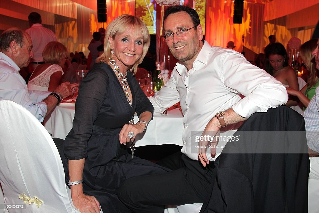 Christa Kinshofer and her husband Dr. Erich Rembeck attend the Kaiser Cup 2014 Gala on July 19, 2014 in Bad Griesbach near Passau, Germany.