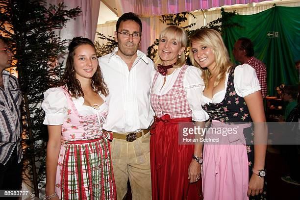 Christa KinshoferGuethlein and husband Dr Erich Rembeck and daughter Stephanie and daughter Alexanra attend a party after 'Kaiser Cup 2009' golf...