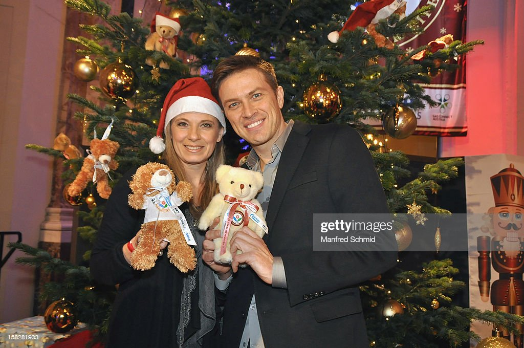 Christa Kummer and Robert Steiner attend the Christmas ball for children Energy For Life - Heat For Children's Hearts at Hofburg Vienna on December 11, 2012 in Vienna, Austria.