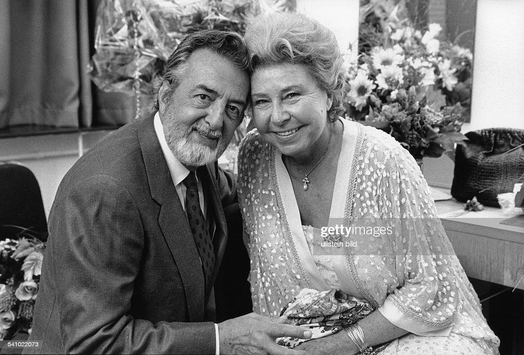 Christa Ludwig, Sängerin - mit ihrem Ehemann Paul-Emile Deiber : News Photo