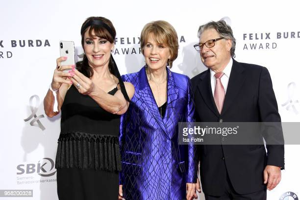 Christa Maar director Felix Burda Stiftung with GermanCanadian opera singer Anna Maria Kaufmann and her partner Eckhard Alt attend the Felix Burda...