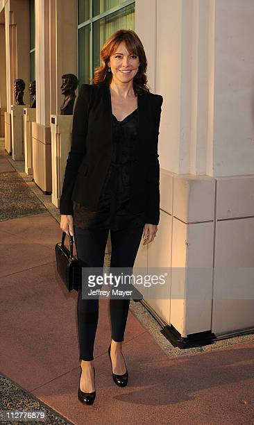Christa Miller arrives at the Academy of Television Arts Sciences Presents An Evening With Cougar Town which took place at Leonard H Goldenson...