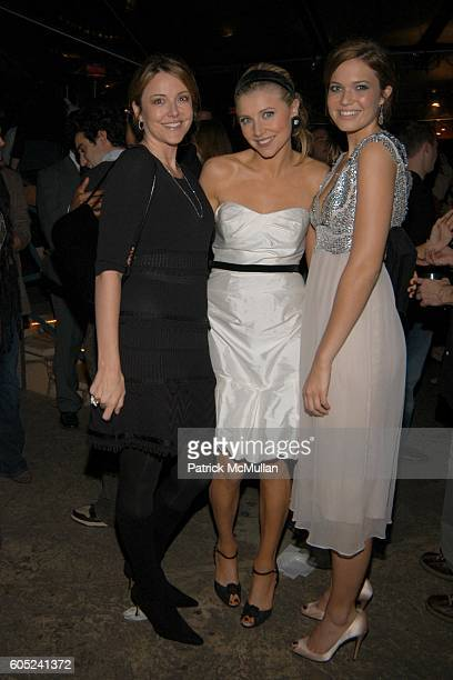 Christa Miller Sarah Chalke and Mandy Moore attend Scrubs Stars to celebrate the show's 100th episode Inside at Cabana Club on January 14 2006 in Los...