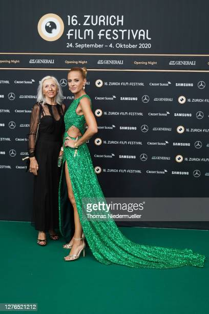 Christa Rigozzi and guest attends the Opening Ceremony of the 16th Zurich Film Festival at Kino Corso on September 24 2020 in Zurich Switzerland The...