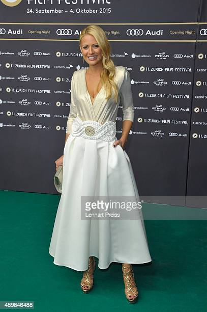 Christa Rigozzi attends the 'The Man Who Knew Infinity' Premiere And Opening Ceremony during the Zurich Film Festival on September 24 2015 in Zurich...