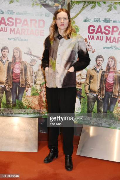 Christa Theret attends 'Gaspard Va Au Mariage' premiere at UGC Cite Les Halles on January 29 2018 in Paris France