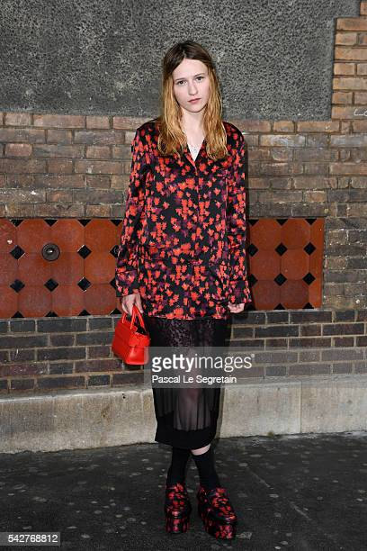 Christa Theret attends the Givenchy Menswear Spring/Summer 2017 show as part of Paris Fashion Week on June 24 2016 in Paris France
