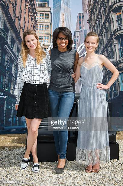 Christa Theret Audrey Pulvar and Diane Rouxel attend the Jury Revelations Photocall at the Kielh's Club during the 42nd Deauville American Film...