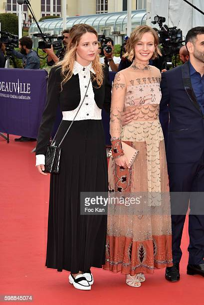 Christa Theret Diane Rouxel and Kheiron attend the 'Infiltrator' Deauville Premiere as part of 42nd Deauville American Film Festival Opening Ceremony...
