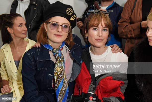 Christabel Macgreevy and Julia Hobbs attend the Molly Goddard show during London Fashion Week February 2018 at TopShop Show Space on February 17 2018...