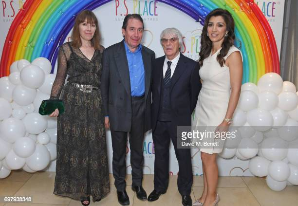 Christabel McEwan Jools Holland Bernie Ecclestone and Fabiana Flosi attend the inaugural fundraising dinner for The Petra Stunt Foundation in aid of...
