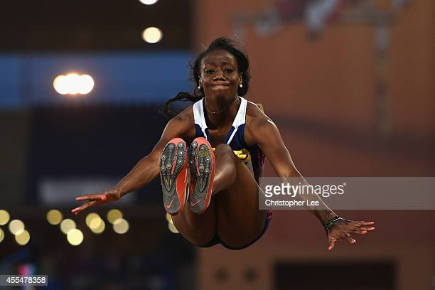 Christabel Nettey of Canada and Americas in action in the Womens Long Jump during the IAAF Continental Cup Day 2 at the Stade de Marrakech on...