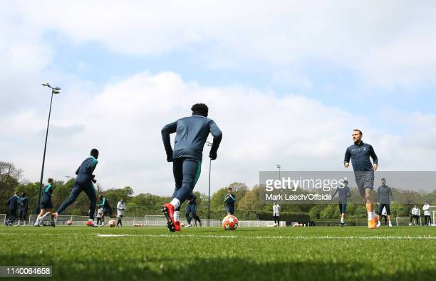Christain Eriksen during the Tottenham Hotspur Training Session on April 29 2019 in Enfield England