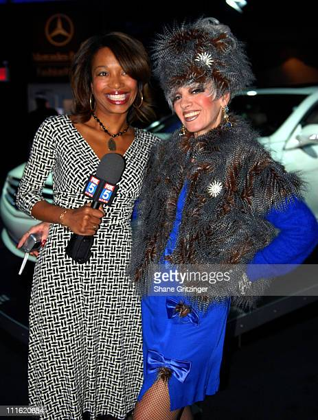 Christal Young and Cognac Wellerlane during Mercedes-Benz Fashion Week Fall 2007 - Seen Around Bryant Park - Day 9 at Bryant Park in New York City,...