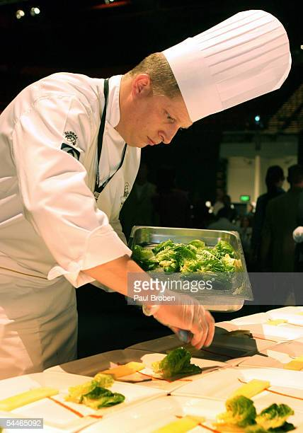 Christan Gradnitzer from Burj Al Arab prepares the winners dish during the third regional final of the Black Box Culinary Challenge held at the Gold...