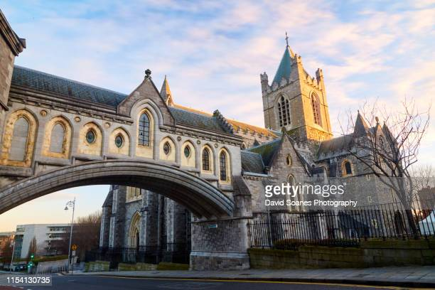 christchurch cathedral, dublin city, ireland - dublin stock pictures, royalty-free photos & images