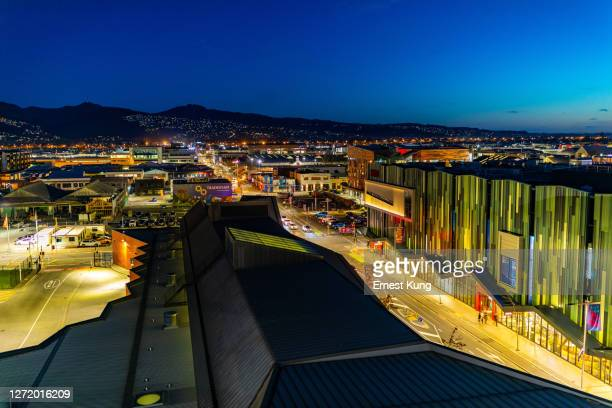 christchurch central: colombo st looking south - christchurch stock pictures, royalty-free photos & images