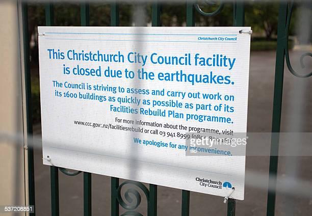 Christchurch Earthquake Damage Sign