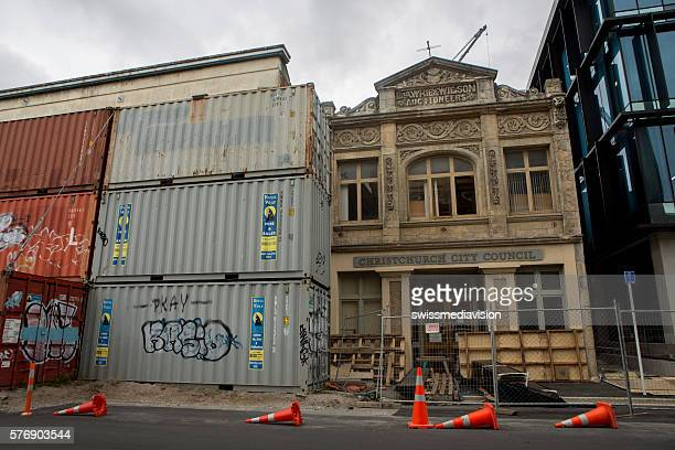 Christchurch, New Zealand: Cargo containers