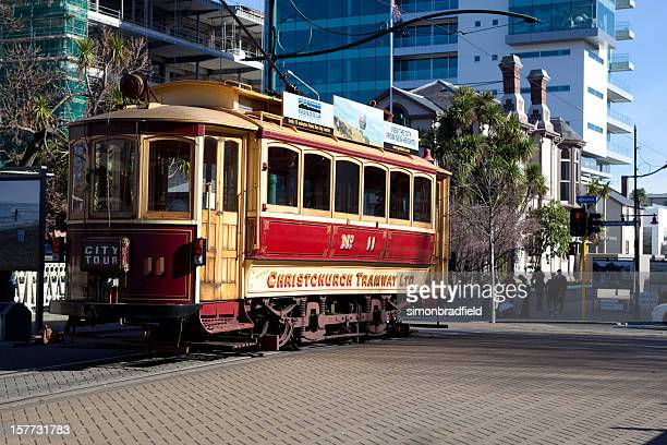 christchurch tram - christchurch stock pictures, royalty-free photos & images