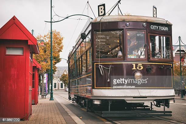 Christchurch tramway in downtown Christchurch, New Zealand