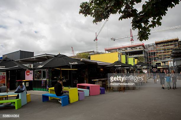 Christchurch: Visitors and locals enjoy lunch outdoors