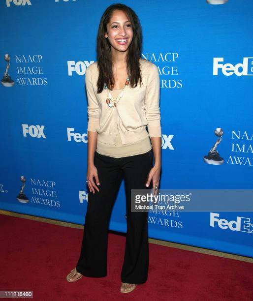 Christel Khalil during The 37th Annual NAACP Image Awards Nominee Luncheon Arrivals at Beverly Hilton Hotel in Beverly Hills California United States
