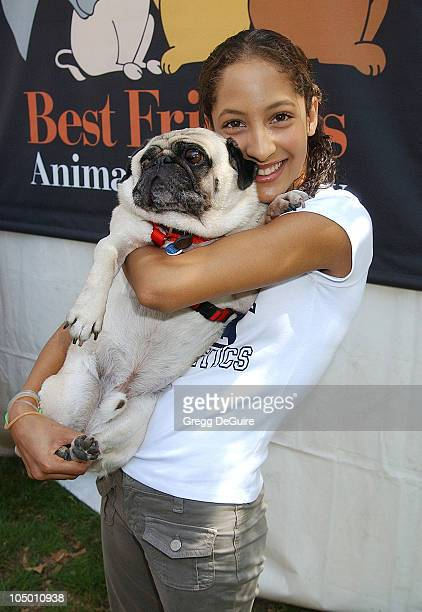 Christel Khalil of 'Young The Restless' Jake during Best Friends Animal Sanctuary's Pet Adoption Festival at Johnny Carson Park in Burbank California...