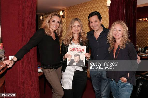 "Christelle Bardet, Actress Maryam D'abo, Laurent Gerra and guest attend ""Sans Moderation"" Laurent Gerra show at Casino de Paris on May 26, 2018 in..."