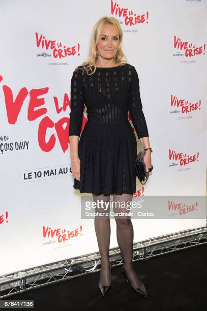 "Christelle Bardet attends the ""Vive La Crise"" Paris Premiere at Cinema Max Linder on May 2, 2017 in Paris, France."