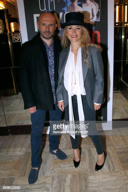 Christelle Chollet and her husband Remy Caccia attend the 'Un Poyo Rojo' Theater Play celebrates its 10th Anniversary at Theatre Antoine on May 17...
