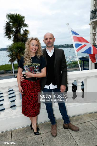 Christelle Chollet and Rémy Caccia attend the Grand Hotel Barrière Dinard Opening on June 15 2019 in Dinard France