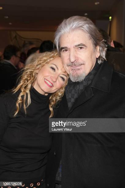 Christelle Chollet and Serge Lama attend N°5 de Chollet at Salle Pleyel on January 17 2019 in Paris France