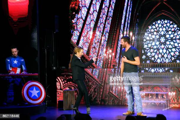 Christelle Chollet performs during the One Woman Show by Christelle Chollet for the Inauguration of the Theatre de la Tour Eiffel Held at Theatre de...