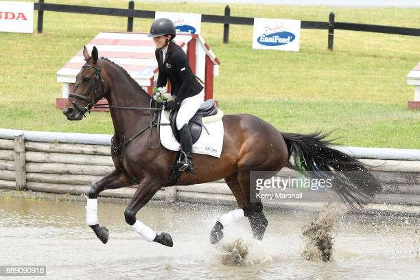Christen Lane rides Henton Armada and finishes third in the CCN10 during the Puhinui International Horse Trials on December 10 2017 in Auckland New...