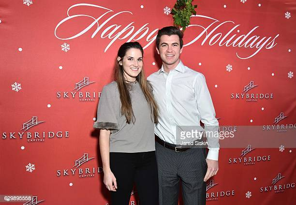 Christen Limbaugh and Sam Bloom attend SkyBridge Capital Holiday Celebration at Hunt Fish Club on December 14 2016 in New York City