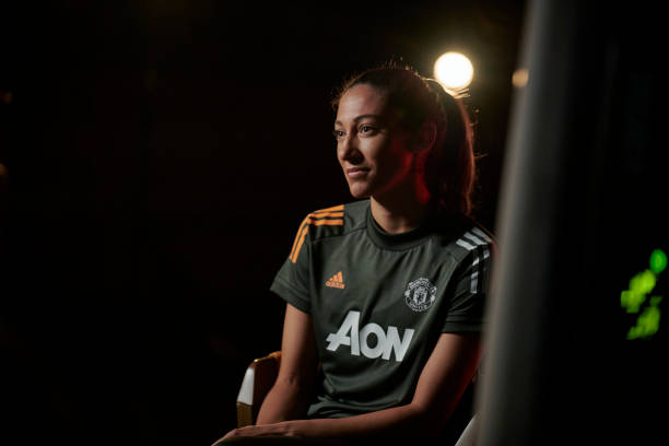GBR: Christen Press Arrives for her First day at Manchester United Women