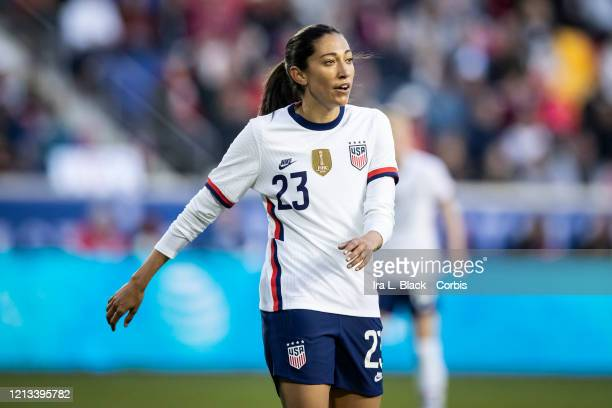Christen Press of the United States comes into the match during the 2nd half of the 2020 SheBelieves Cup match between United States and Spain...