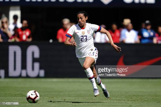 Christen Press of the United States during an international friendly match between the womens national teams of the United States and South Africa on...